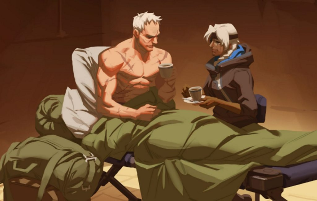Soldier 76, also known as Jack Morrison, talks to Ana in the Overwatch story which shows he's gay