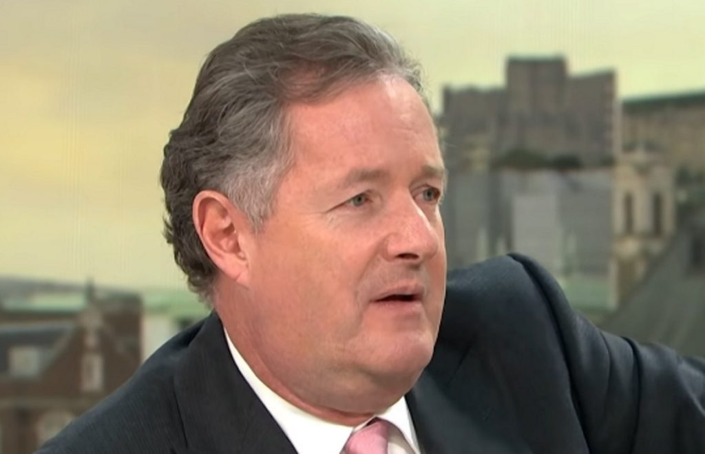 Good Morning Britain presenter Piers Morgan on the ITV show.