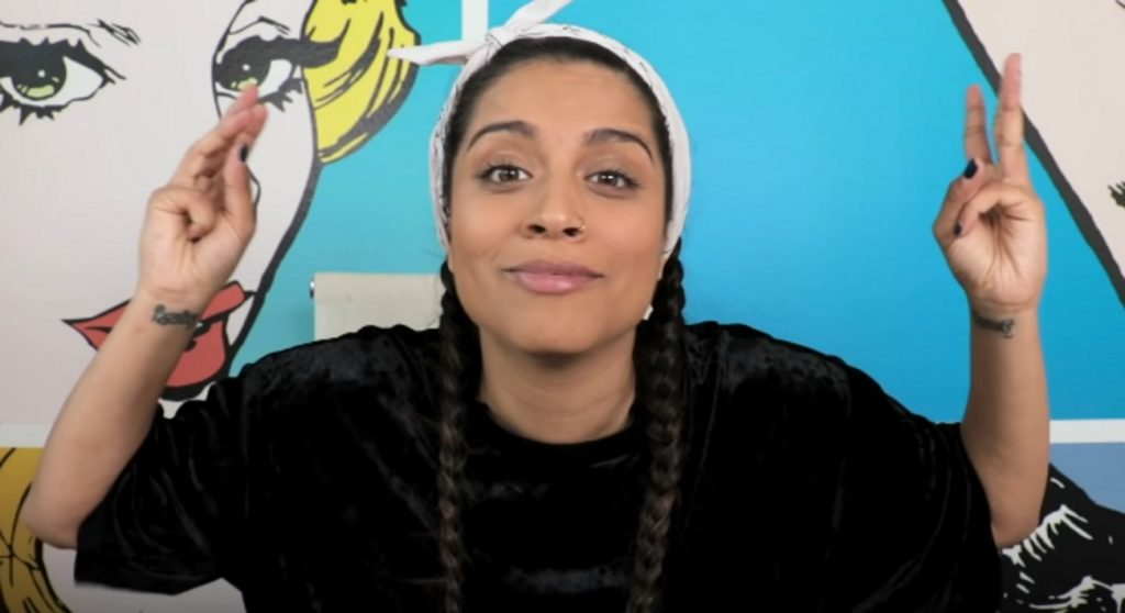 Canadian YouTuber Lily Singh in one of her videos before coming out as bisexual