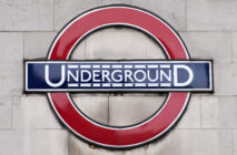 A London underground sign is pictured outside Leicester Square underground station