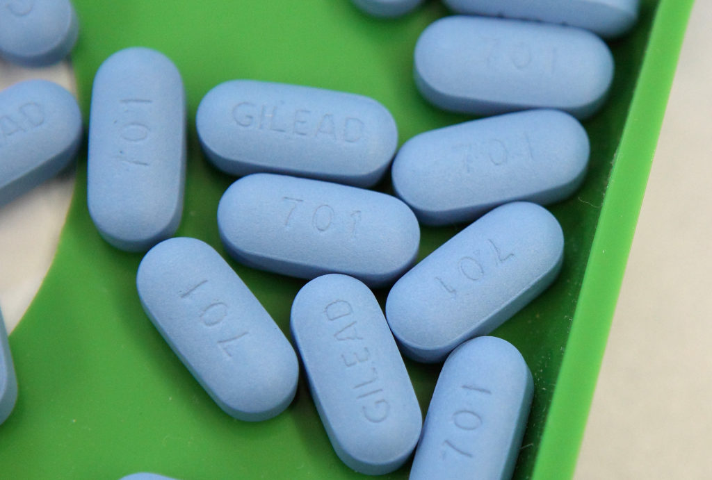 Antiretroviral pills Truvada sit on a tray at Jack's Pharmacy on November 23, 2010 in San Anselmo, California.