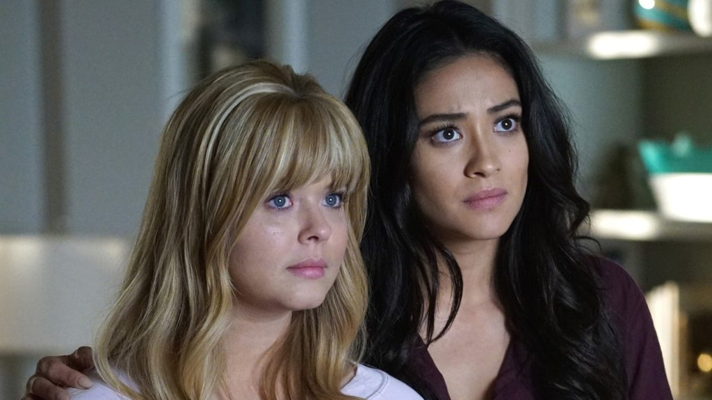 Pretty Little Liars characters Alison and Emily, who formed Emison when they got together.