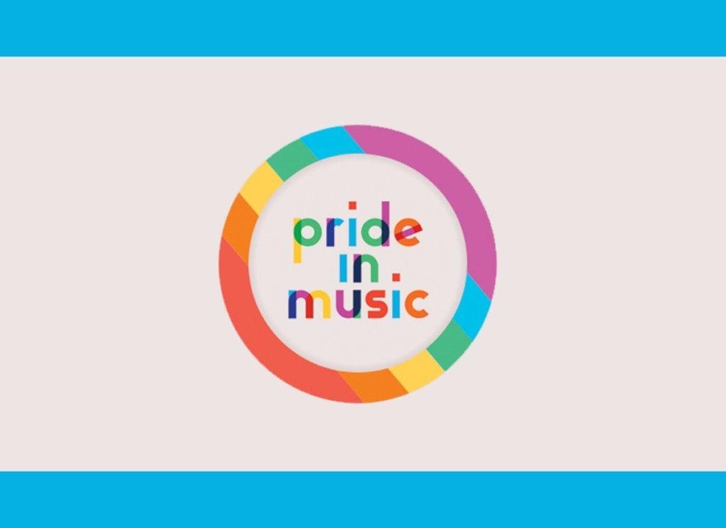 The logo of Pride in Music in its Facebook photo