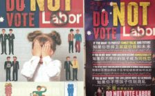 Homophobic flyers appear ahead of Sydney election.