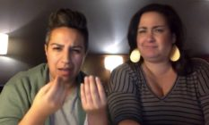 Deaf queer couple Socorro Garcia and Melissa Elmira Yingst in Facebook video
