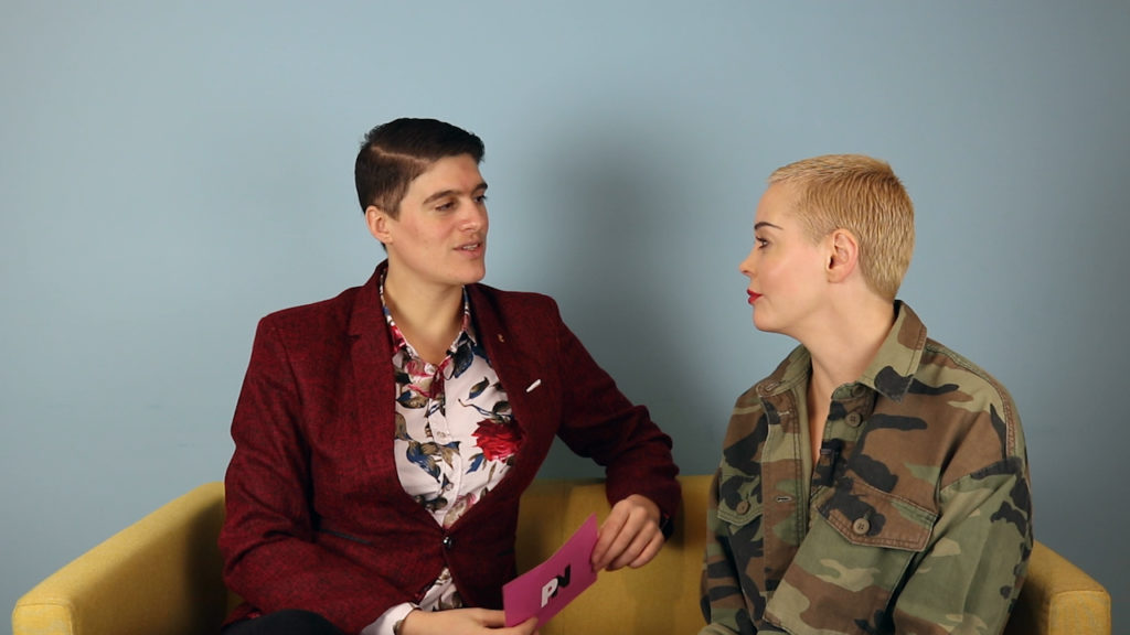 Non-binary model Rain Dove and actor Rose McGowan share details of their relationship (PinkNews)