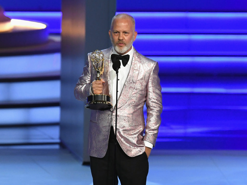 The Prom producer Ryan Murphy accepts the Outstanding Limited Series award for 'The Assassination of Gianni Versace: American Crime Story' onstage during the 70th Emmy Awards at Microsoft Theater on September 17, 2018 in Los Angeles, California.