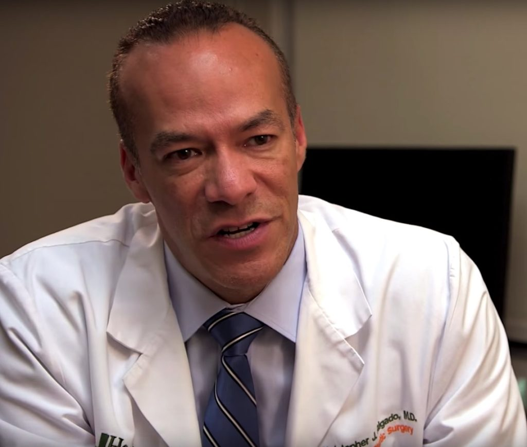 Screenshot of Dr. Christopher J Salgado, who advised Jazz Jennings on her gender confirmation surgery.