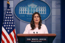 Sarah Sanders urged to resign over trans military ban 'misinformation'