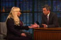 Seth Meyers interviews Meghan McCain on his show, an exchange that prompted her husband to attack him in a series of tweets.