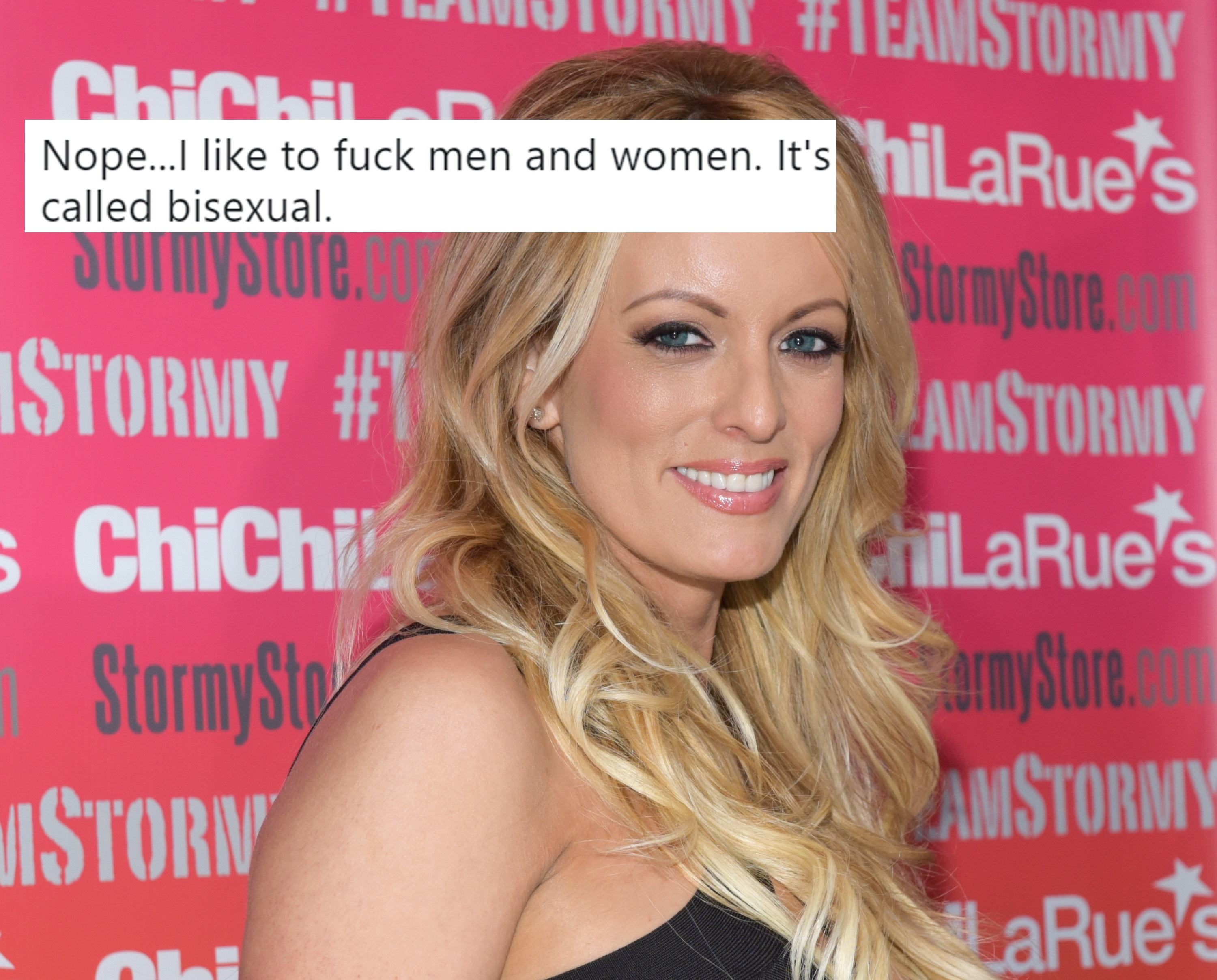 Porn star Stormy Daniels attends a fan meet and greet at Chi Chi LaRue's on May 23, 2018 in West Hollywood, California