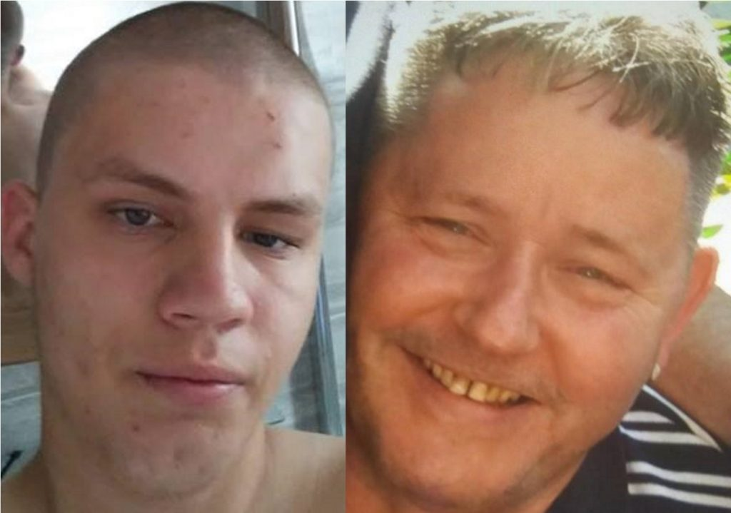 A picture of Daniel Kurmelovs (left) next to Frank Lennon, who he murdered while playing a gay sex game