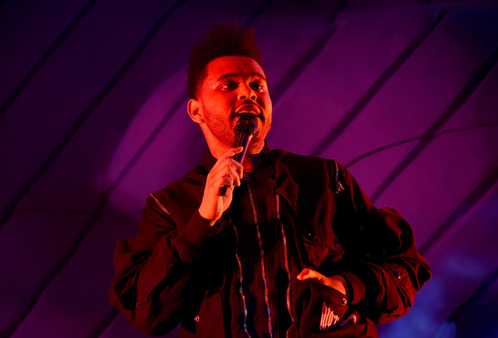 The Weeknd performs onstage during the 2018 Coachella Valley Music And Arts Festival at the Empire Polo Field on April 20, 2018 in Indio, California
