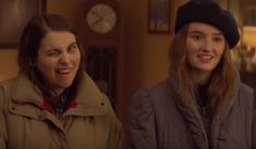 Kaitlyn Dever as lesbian student Amy and Beanie Feldstein as Molly in Booksmart.