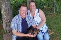 Transgender nurse Jesse Vroegh and his wife Jackie