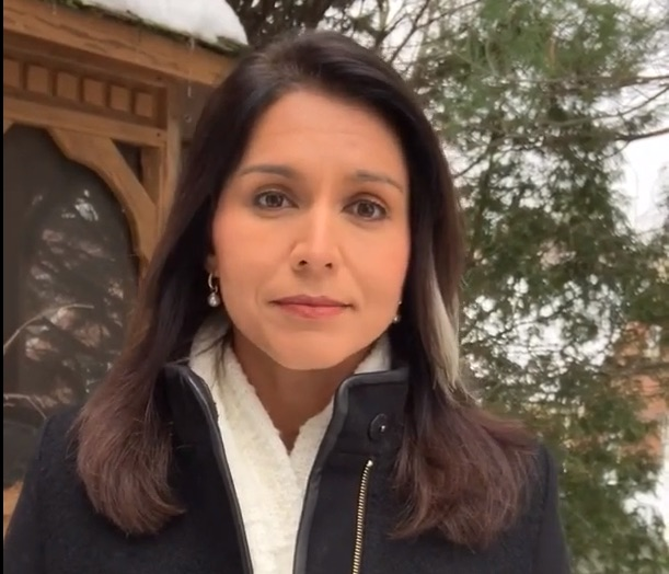 A still of the video Hawaii Democrat and presidential hopeful Tulsi Gabbard in which she apologised to LGBT people and rejected her past views.