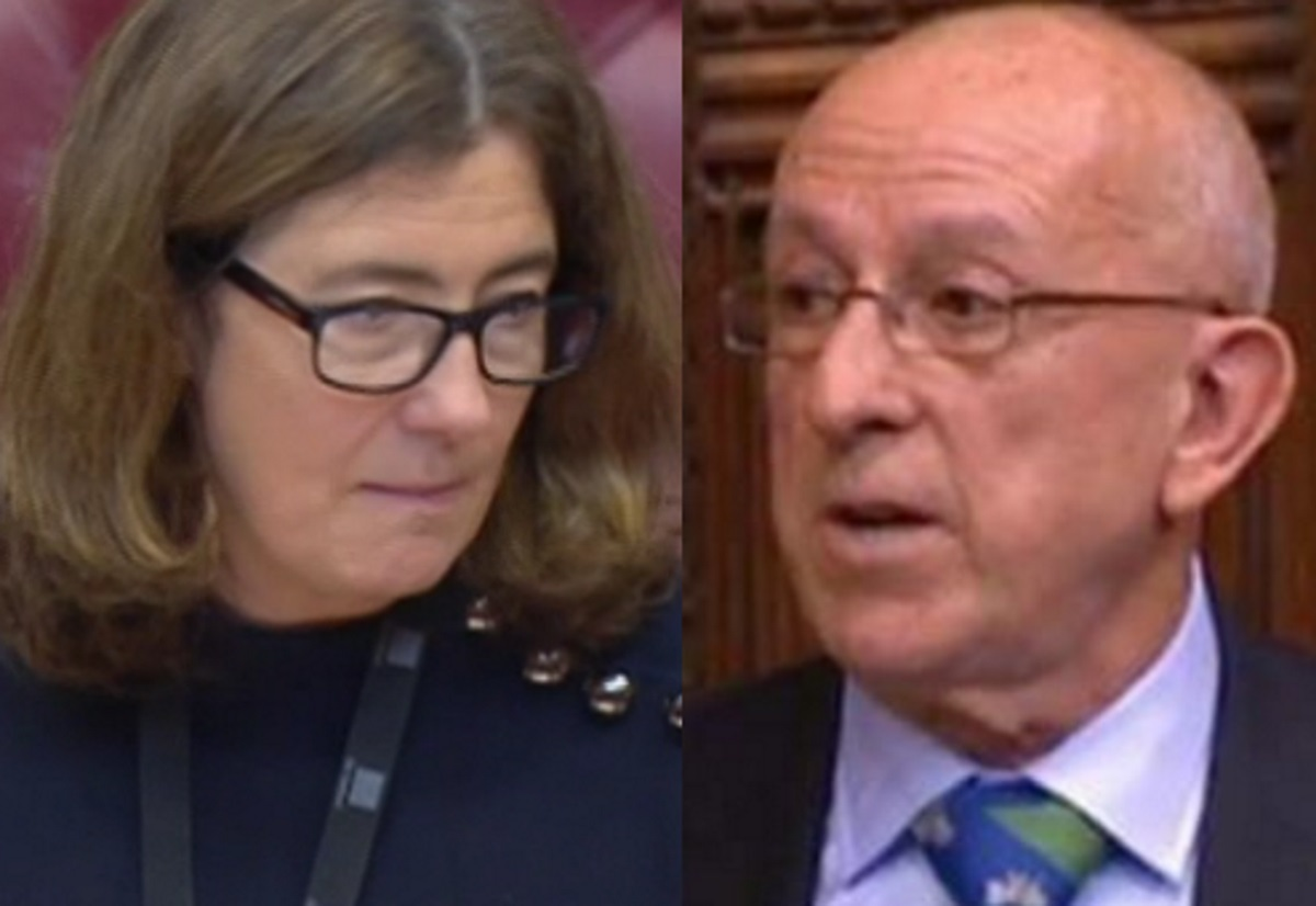 Baroness Williams and Lord Hayward speaking in the House of Lords during a debate on bringing same-sex marriage to Northern Ireland