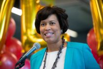 """Mayor Muriel Bowser of Washington, DC, speaks prior to signing the """"Let Our Vows Endure Emergency Act of 2019,"""" or """"LOVE Act,"""" which gives the mayor the authority to issue marriage licenses during the partial federal government shutdown in January, 2019"""
