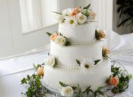 Stock photo of a wedding cake