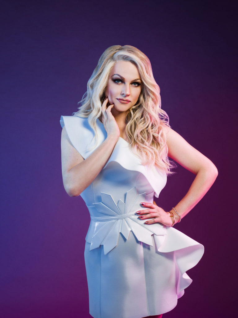 Courtney Act poses for a photo shoot ahead of The Bi Life premiere.