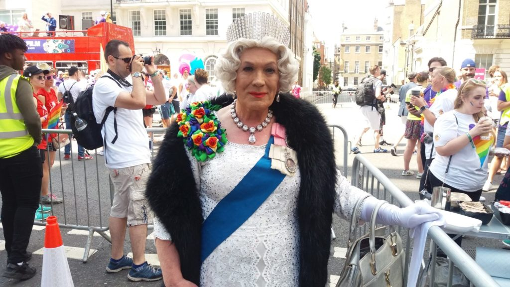 """""""The Queen"""" at Pride in London 2017"""