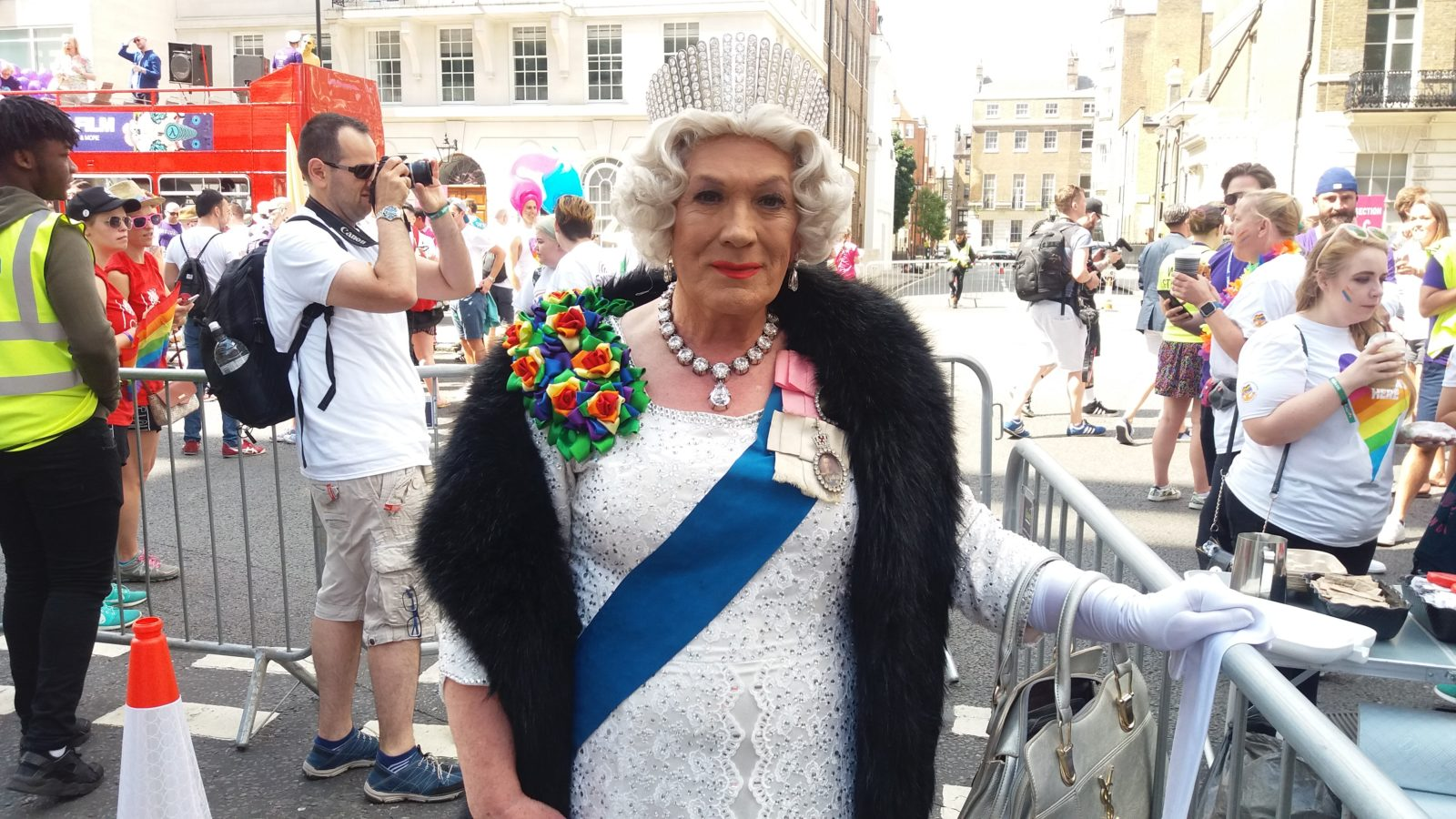 """The Queen"" at Pride in London 2017"