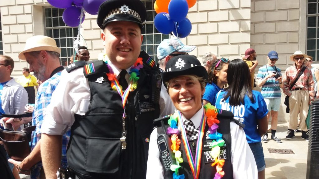 Police officers at Pride in London 2017
