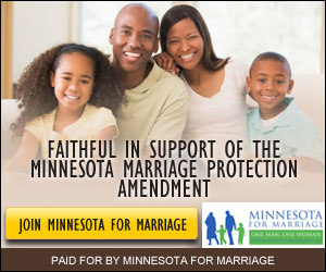 Minnesota for marriage badge
