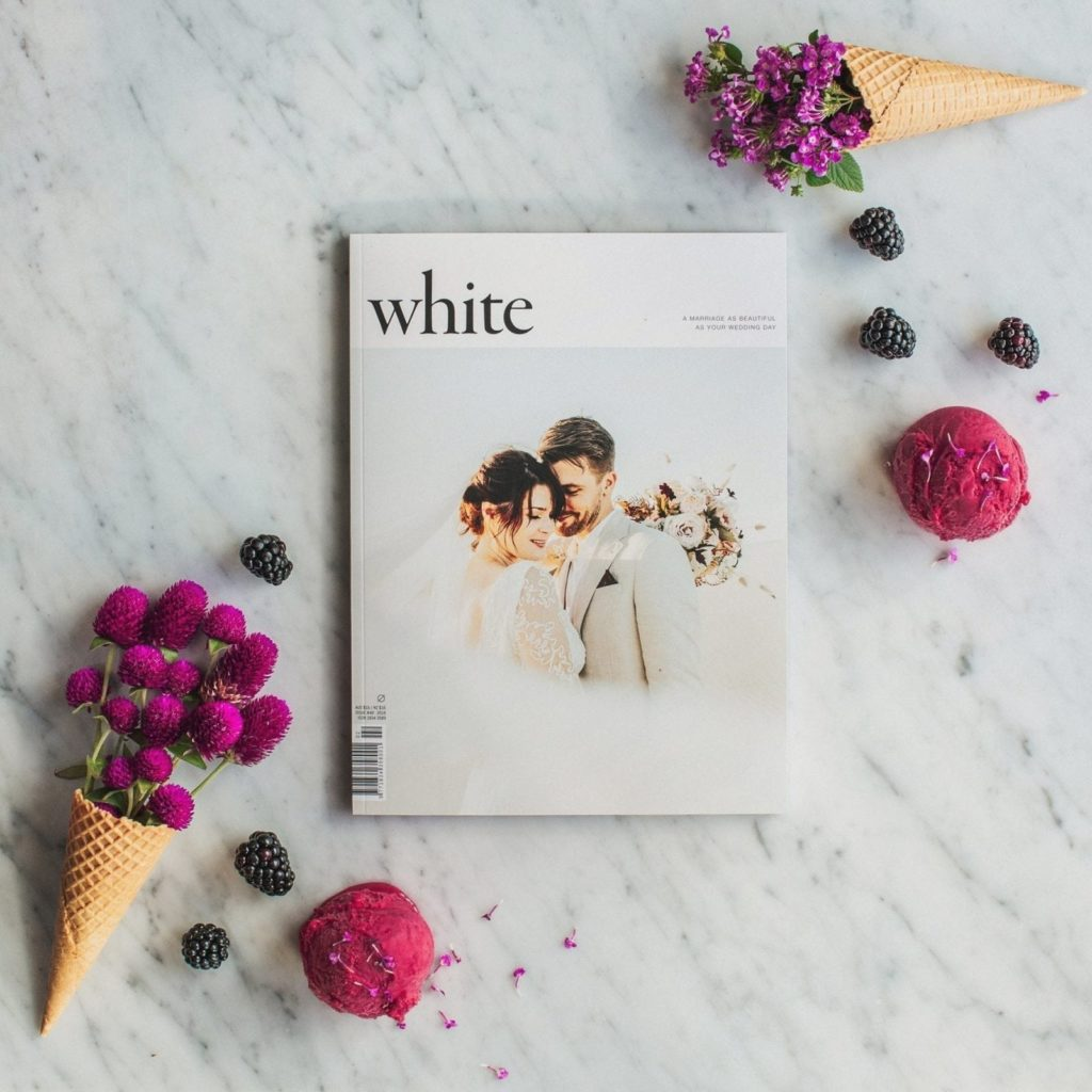 The front cover of an issue of White Magazine.