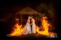 Lesbian couple sets wedding dresses on fire (Michael Huang of Cukini Studio)