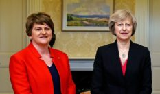 Arlene Foster with British Prime Minister, Theresa May