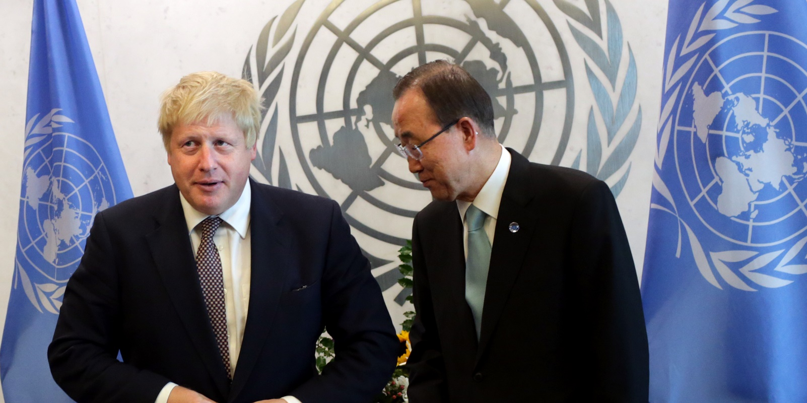 British Foreign Secretary Boris Johnson Meets With United Nations Secretary-General Ban Ki-Moon