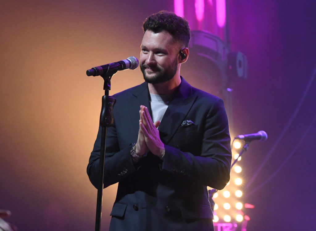 Calum Scott performs at an LGBT+ event
