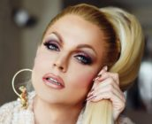 A picture of Courtney Act, who is seeking to compete in Eurovision 2019 for Australia with her song Fight for Love.