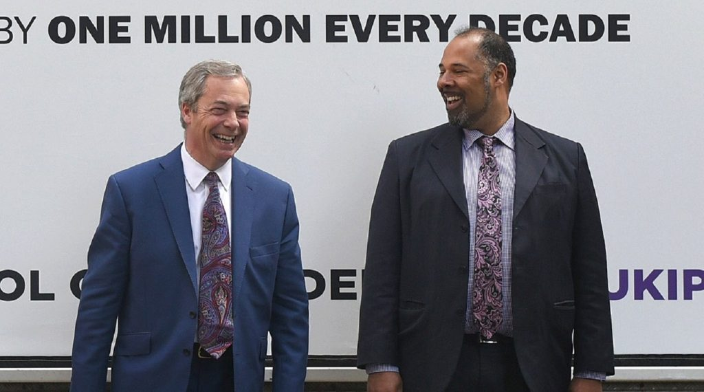 David Kurten and Nigel Farage