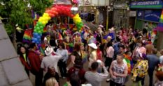 Pride parade in EastEnders