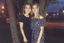 Lesbian athlete Emily Scheck and her girlfriend Justyna are still together.