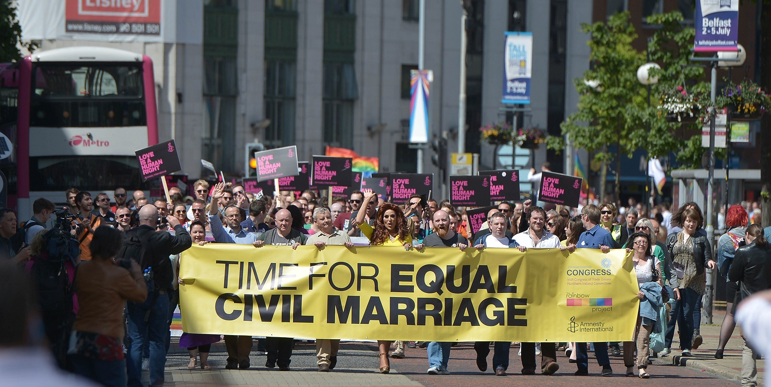 MPs vote equal marriage northern Ireland