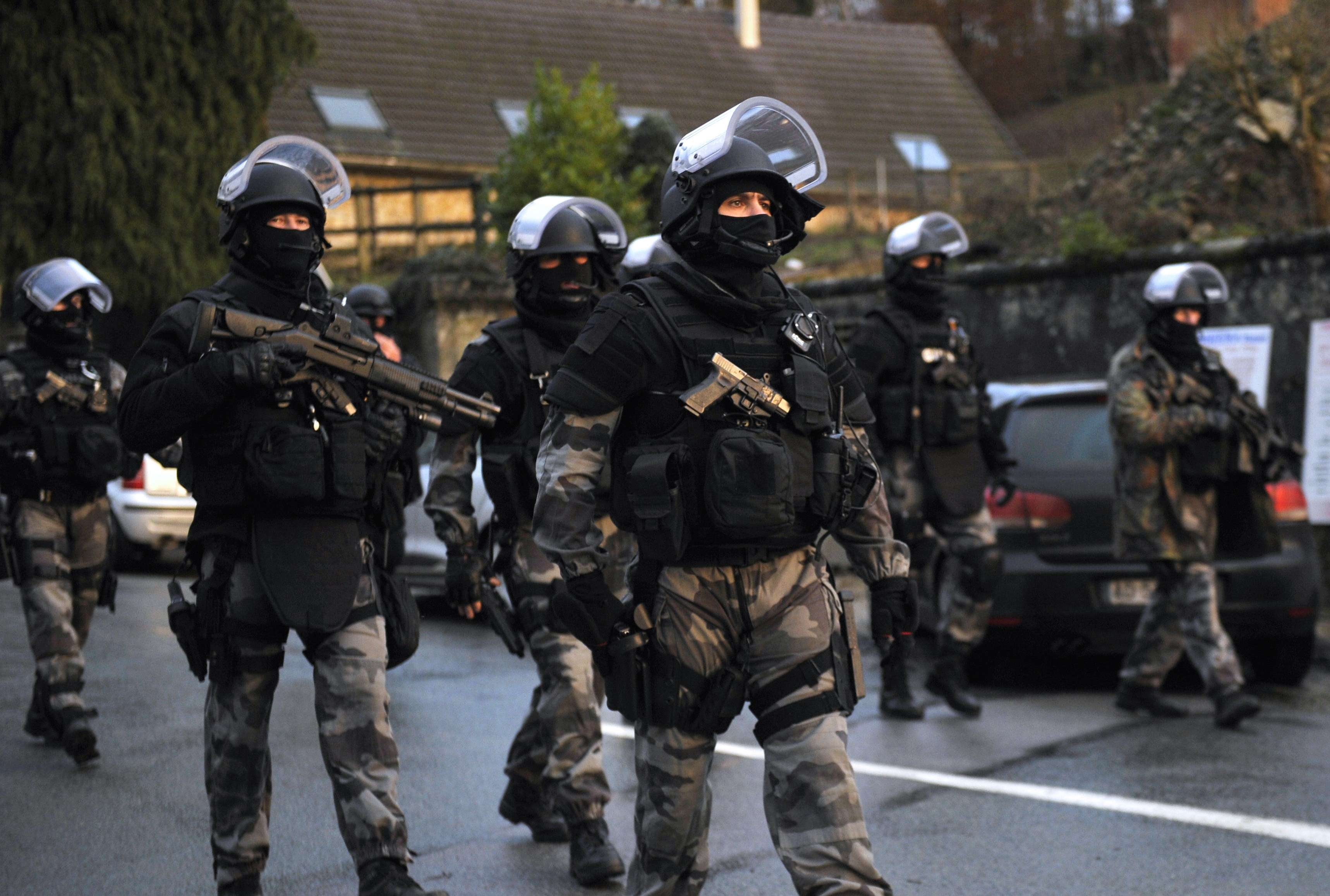 Police in France after a 2015 terror attack