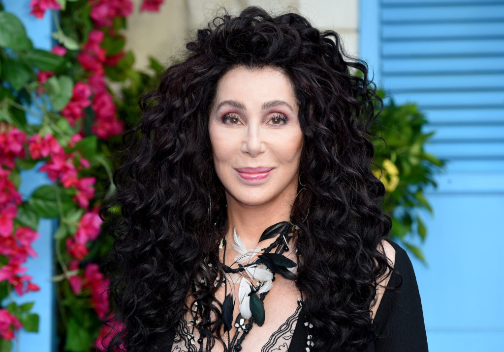 "Cher poses on the red carpet upon arrival for the world premiere of the film ""Mamma Mia! Here We Go Again"" in London on July 16, 2018. (ANTHONY HARVEY/AFP/Getty)"