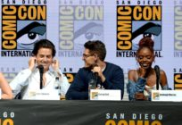 "SAN DIEGO, CA - JULY 22: (L-R) Cole Sprouse, Casey Cott and Ashleigh Murray speak onstage at the ""Riverdale"" special video presentation and Q&A during Comic-Con International 2018 at San Diego Convention Center on July 22, 2018 in San Diego, California. (Photo by Kevin Winter/Getty Images)"