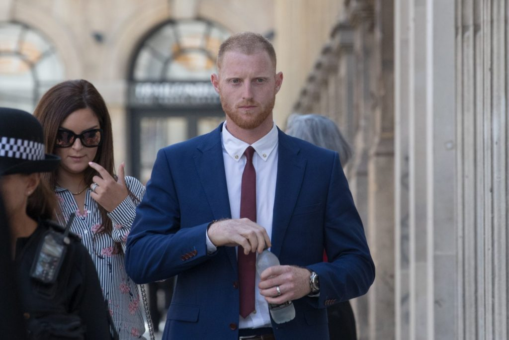 England Cricketer Ben Stokes walks into Bristol Crown Court on August 6, 2018 in Bristol, England. (Matt Cardy/Getty)