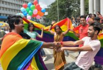 Indian members and supporters of the LGBT community celebrate the Supreme Court decision to strike down a colonial-era ban on gay sex, in Bangalore on September 6, 2018. (MANJUNATH KIRAN/AFP/Getty Images)