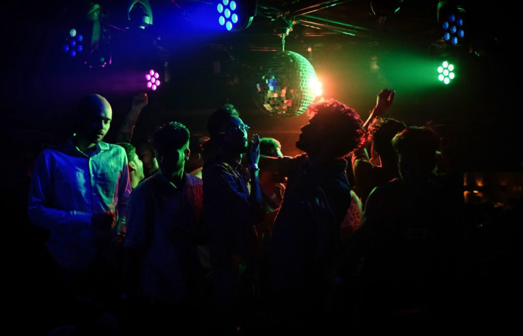 Indian LGBT+ people enjoy a queer party at the 'Kitty Su' nightclub in the Lalit Hotel in New Delhi.