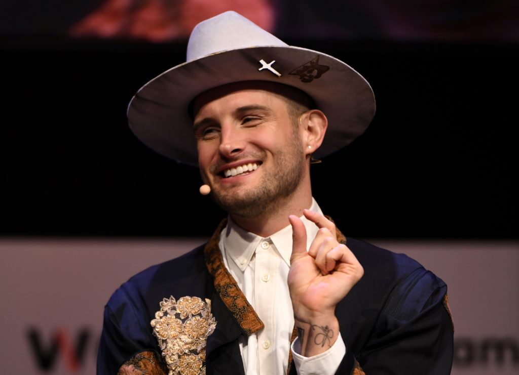Non-binary actor Nico Tortorella onstage during panel at the 2018 Glamour Women Of The Year Summit: Women Rise at Spring Studios on November 11, 2018 in New York City