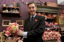 LONDON, ENGLAND - NOVEMBER 03: (EXCLUSIVE COVERAGE) Jacob Rees-Mogg visits the new Bagpuss Pop-up Shop at Whitelys Shopping Centre on November 3, 2011 in London, England. (Photo by Ben Pruchnie/Getty Images)