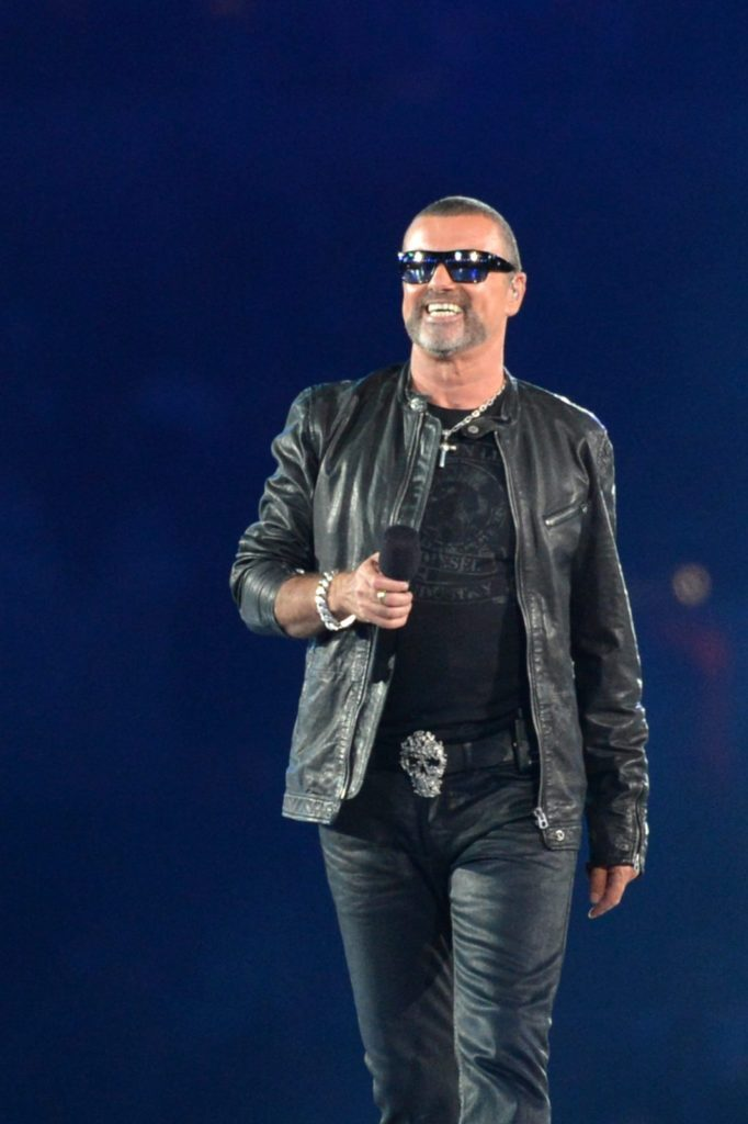 British musician George Michael performs during the closing ceremony of the London 2012 Olympic Games in the Olympic Stadium in east London on August 12, 2012. Rio de Janeiro will host the 2016 Olympic Games. AFP PHOTO / BEN STANSALL (Photo credit should read BEN STANSALL/AFP/GettyImages)