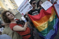 Lebanese LGBT people rally in Beirut in 2013