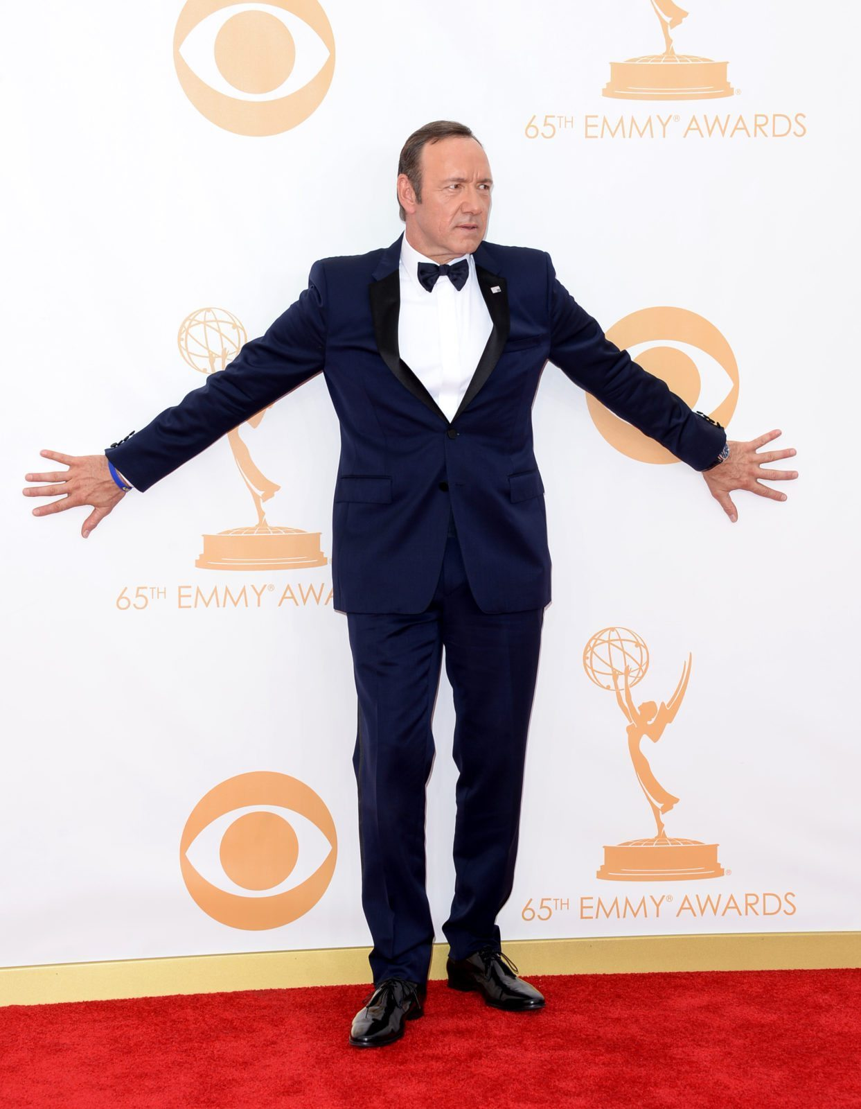 LOS ANGELES, CA - SEPTEMBER 22: Actor Kevin Spacey arrives at the 65th Annual Primetime Emmy Awards held at Nokia Theatre L.A. Live on September 22, 2013 in Los Angeles, California. (Photo by Jason Merritt/Getty Images)