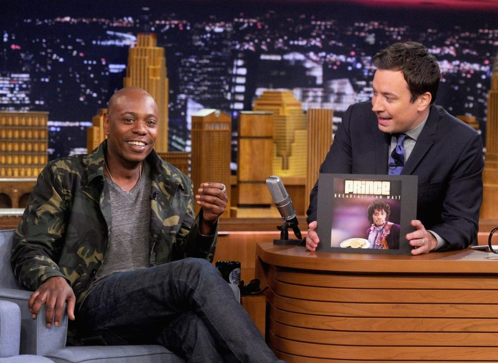"""Dave Chappelle Visits """"The Tonight Show Starring Jimmy Fallon"""" getty"""